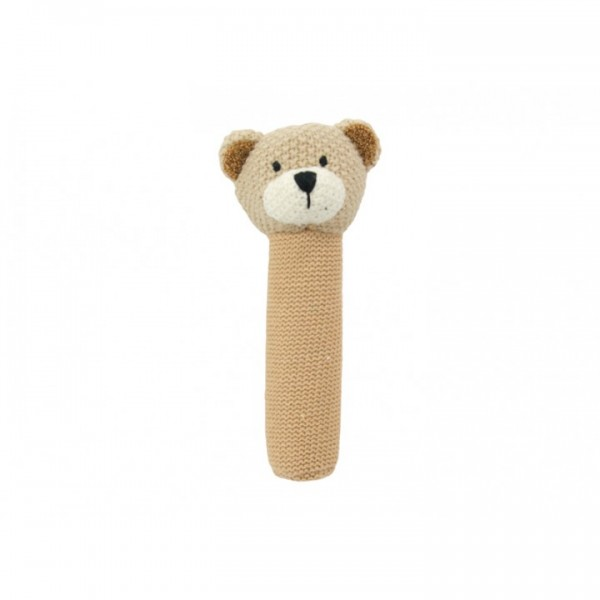 Crochet baby hand rattle Teddy