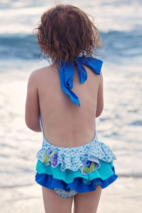 HeavenLee Swimwear - Growth Suit - Mermaid - Back