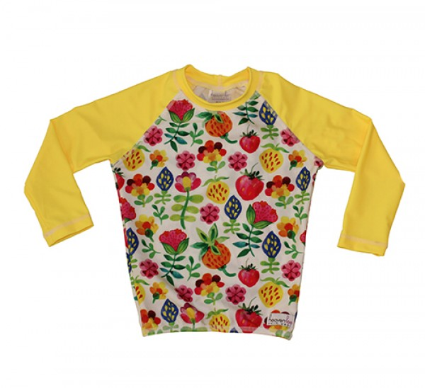 HeavenLee Swimwear - Long Sleeve Rash Top - Summer Garden Pic