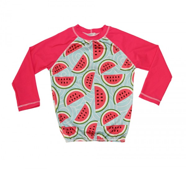 HeavenLee Swimwear - Long Sleeve Rash Top - Watermelon Pic