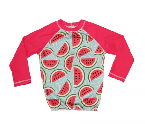 HeavenLee Swimwear - Long Sleeve Rash Top - Watermelon Pic