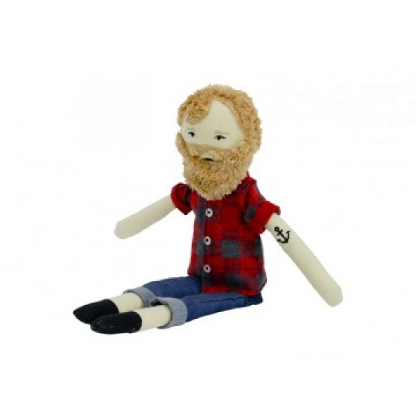 Jarrad the Hipster doll - sitting