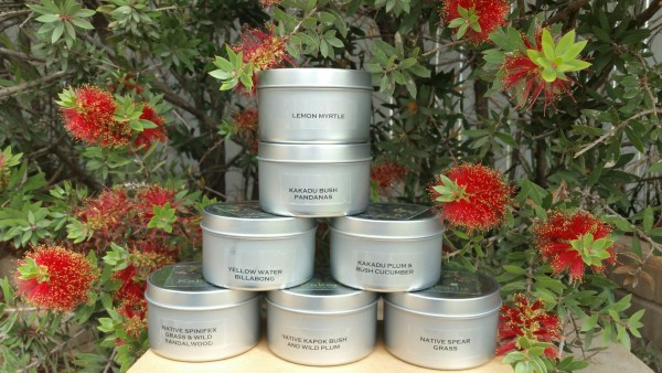 Kakadu Tiny Tots Tin Natural Soy Candles display open