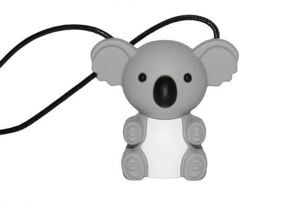 Nibbly Bits Koala Silicon Pendant - Light Grey