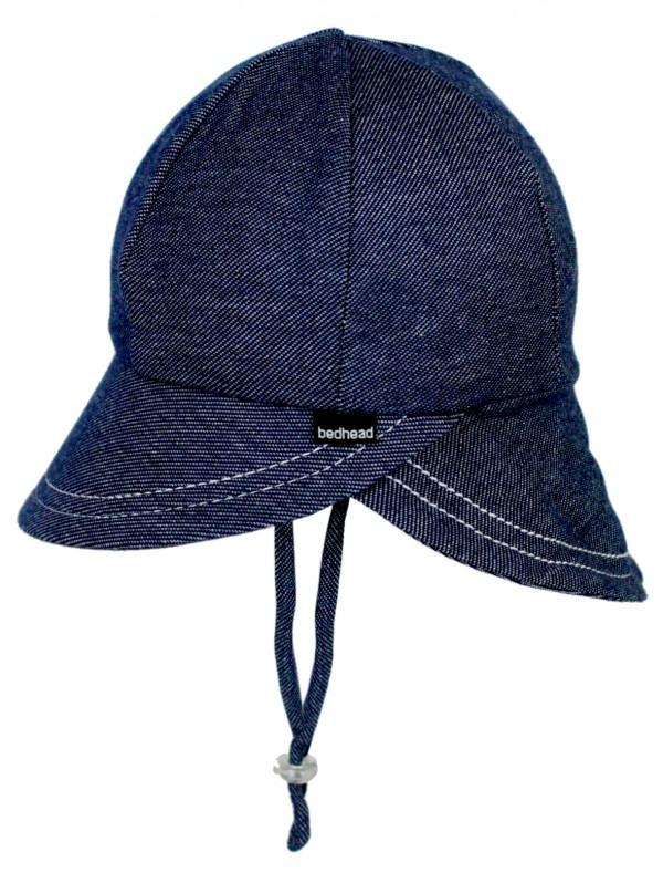 Bedhead Legionnaire Hat - Denim flat lay