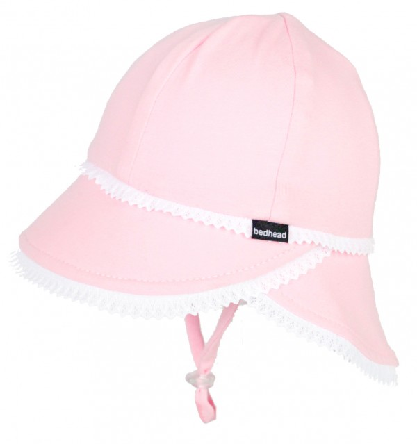 Bedhead Legionnaire Hat - Pink with white lace trim