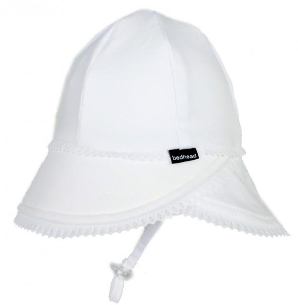 Bedhead Legionnaire Hat - White flat lay