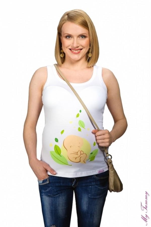 Maternity Singlet - Baby Leaf Print
