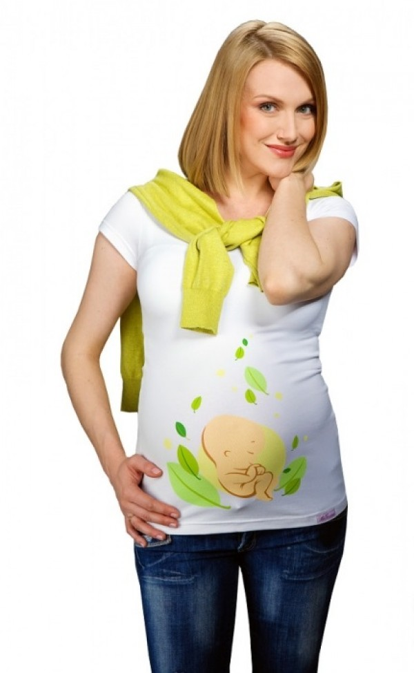 Maternity T-Shirt - Baby in Leaves