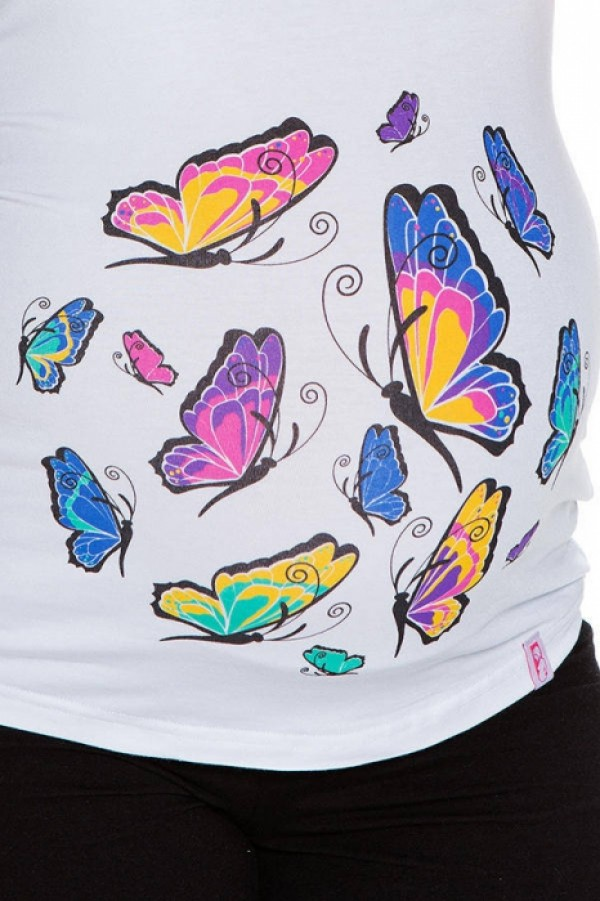 Maternity T-Shirt - Butterfly zoom