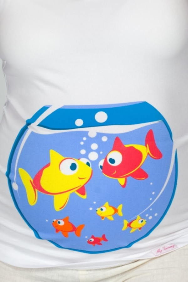 Maternity T-Shirt - Fishes zoom