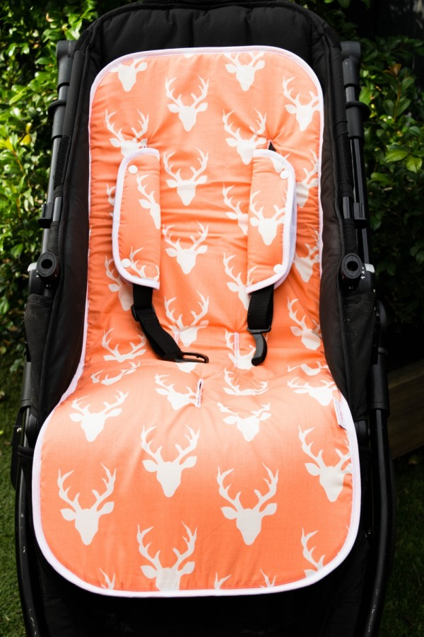 Harry High Pants Pram Liner & Strap Covers - Peachy Stag