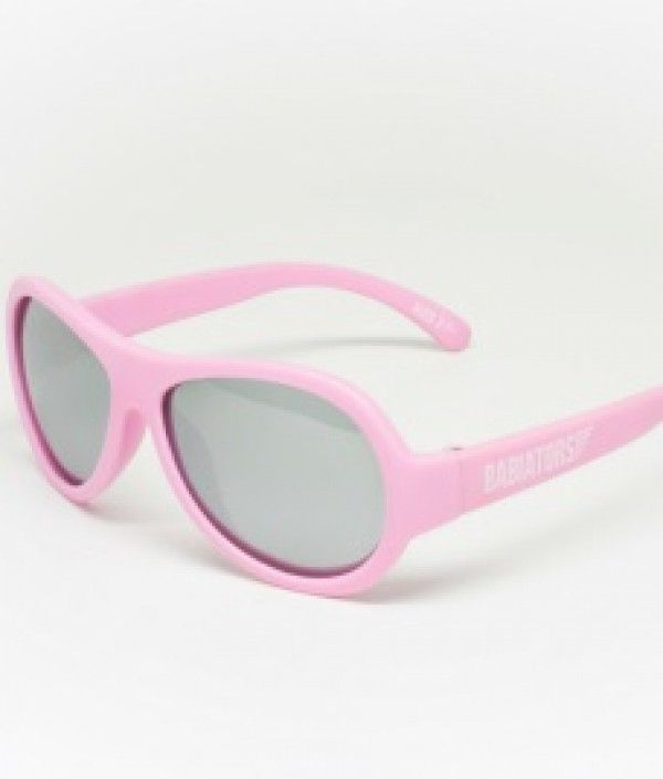 Princess Pink with Mirrored lenses Polarised Babiators kids sunglasses in case