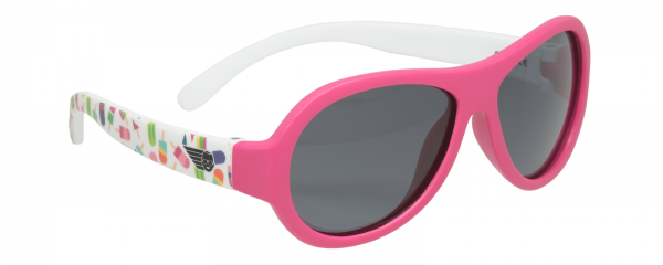 Pop of Colour Polarised Babiators kids sunglasses in case