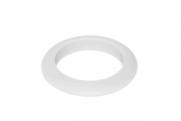 Round Stackable Bangle - Fair Bianca White