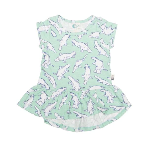 Moon Jelly - Short Sleeve Platypus Dress Flat Lay