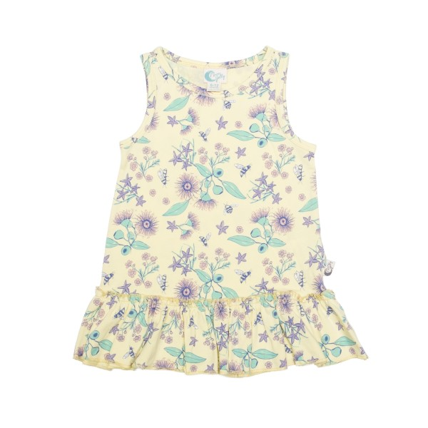Moon Jelly - Floral Bee Tank Dress Flat Lay