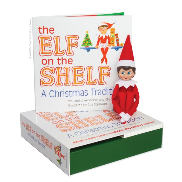 Elf on the Shelf - Light Skin Girl and Book