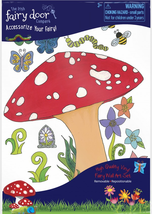 the Irish Fairy Door - Wall Art Toadstool Packet