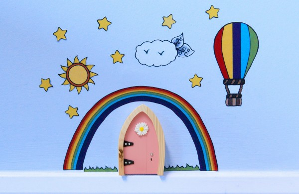 the Irish Fairy Door - Wall Art Rainbow