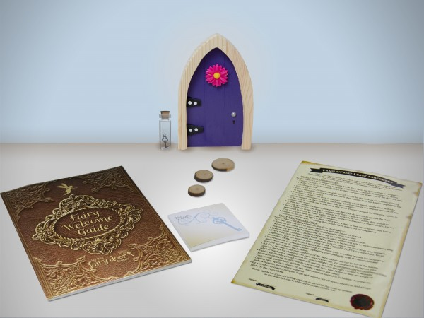 the Irish Fairy Door Company - Purple Arch Fairy Door includes