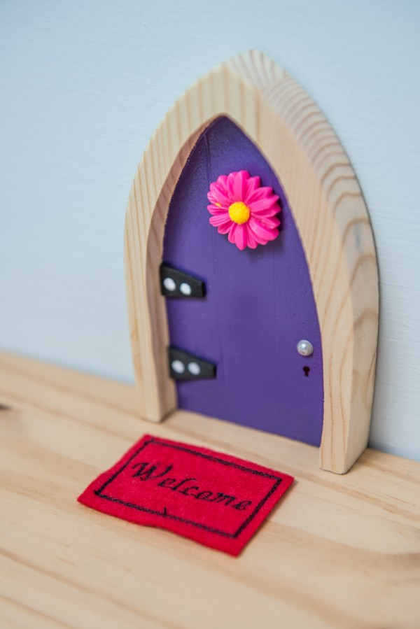 the Irish Fairy Door Company - Purple Arch Fairy Door door mat