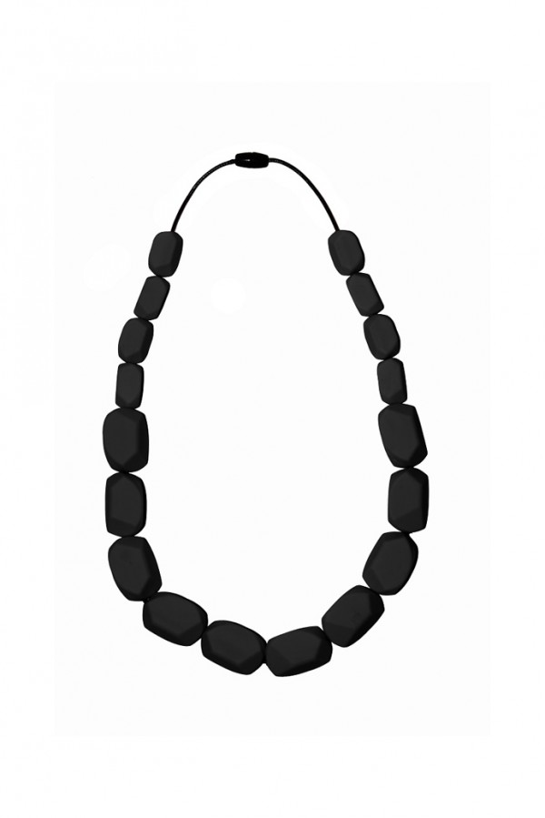 Nibbly Bits Wilma Rocks Silicon Necklace - Black