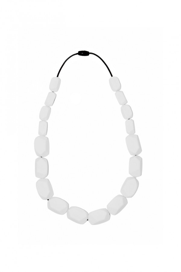 Nibbly Bits Wilma Rocks Silicon Necklace - White