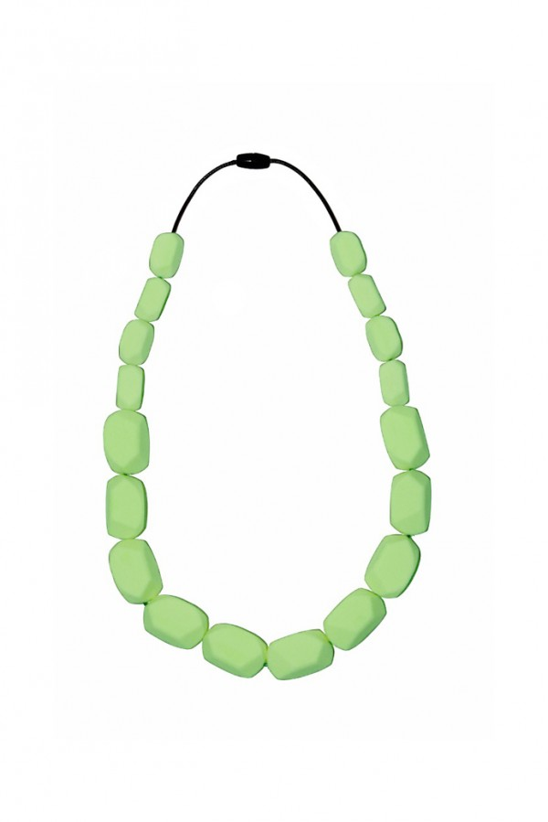 Nibbly Bits Wilma Rocks Silicon Necklace - Apple Green