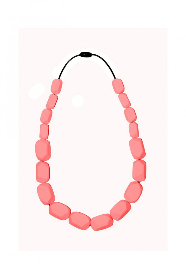 Nibbly Bits Wilma Rocks Silicon Necklace - Baby Pink