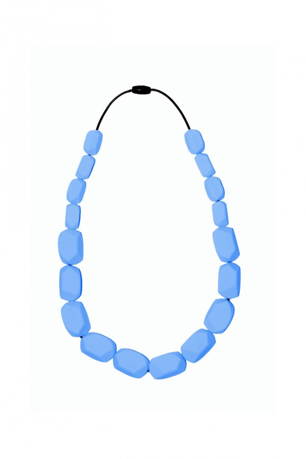 Nibbly Bits Wilma Rocks Silicon Necklace - Sky Blue