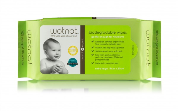 Wotnot Biodegradable Baby Wipes - 80PK
